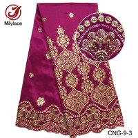 African George Lace Fabric With Sequins Wholesale And Retail Guinea Nigerian George Lace Fabric For Women