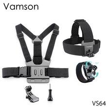 Faixa de cabeça vamson para yi lite, acessório para cabeça de peito para gopro hero 6 5 câmera de ação 4 vs64