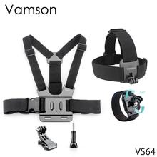 Vamson per Yi Lite Accessori Petto Head Strap Belt Head Strap Mount Vite Cinturino Da Polso per Gopro Hero 6 5 4 Macchina Fotografica di azione di VS64