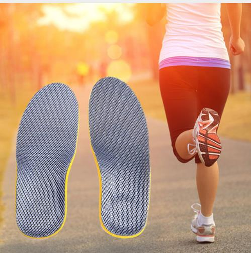 1 Pair EVA Foam Orthopedic Shoes Insoles Arch Support Breathable Sneaker Insoles Pad For Hiking Running Flat Feet Pain-relief