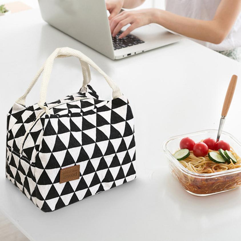 2018 new home office storage For Women Kids Men Insulated Canvas Box Tote Bag Thermal Cooler Food Lunch Bags easy to carry bags