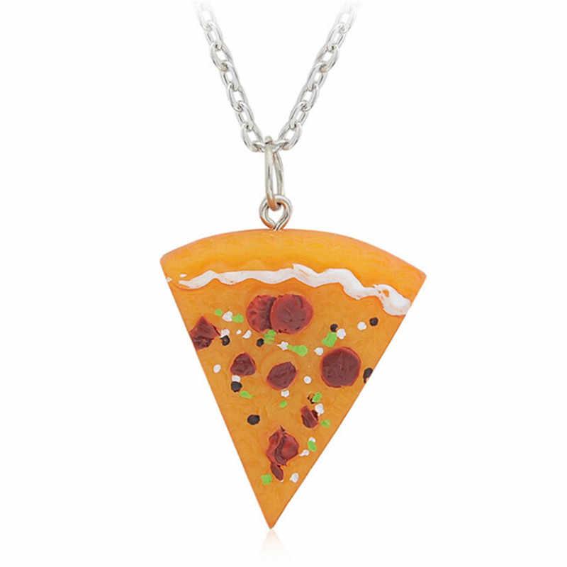 1 Uds. Pizza colgante llaveros y collares llavero para hombres mujeres familia regalo joyería de Amistad mejores amigos para siempre collar