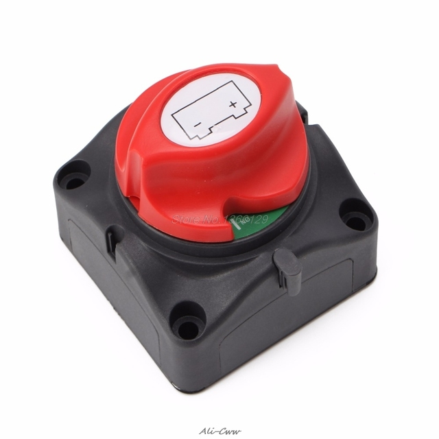 Universal Car Battery Isolator Master Cutoff Cut Off Power Kill Switch 12V/24V Waterproof Cover Switch for Car Truck Boat Auto
