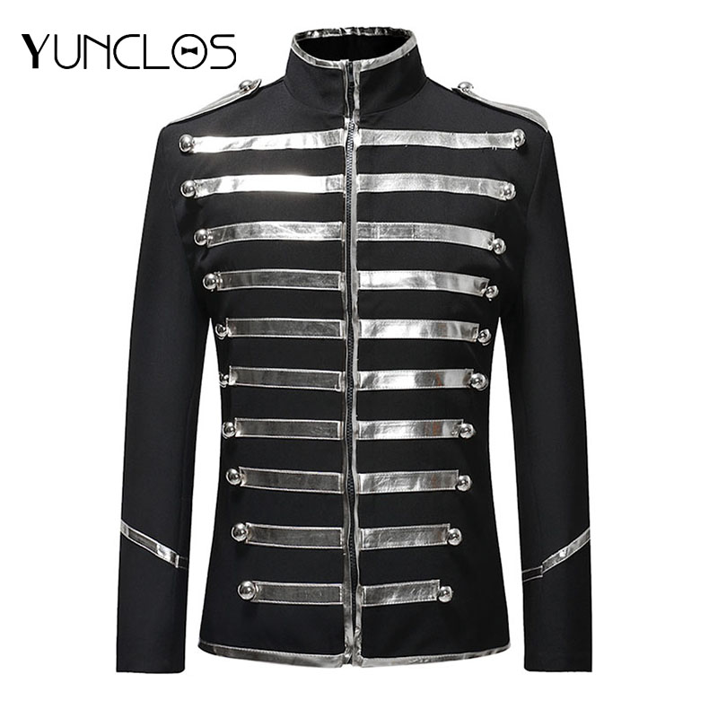 YUNCLOS  Autumn Spring Sequin Stage Suit Jacket Men Party Dress Suit Fashion Digital Printing Casual Drama Costume Blazer
