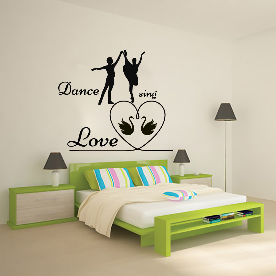 Romantic Bedroom Wall Decals compare prices on bedroom romantic wall stickers- online shopping