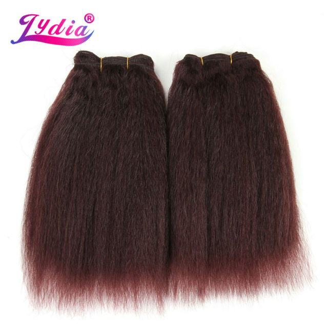 Lydia For Black Women Synthetic Hair Extension Kinky Straight