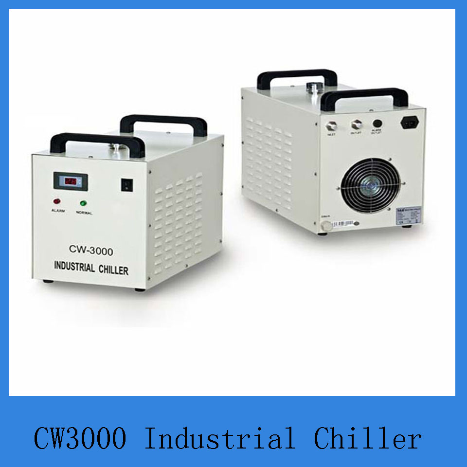 watercooler S&A cw3000AG 220V/50/60Hz for cooling Co2 glass laser tube 10w-80w
