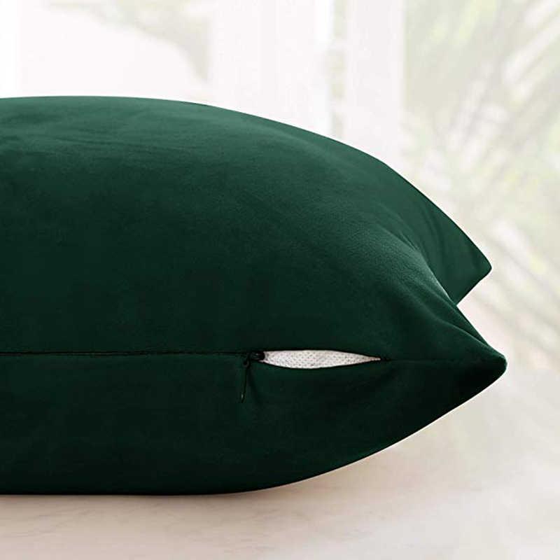 14 kolor luksusowa aksamitna poszewka na poduszkę poszewka na poduszkę poszewka na poduszkę zielona żółta różowa szara dekoracyjna Sofa do domu poduszki 45X45CM