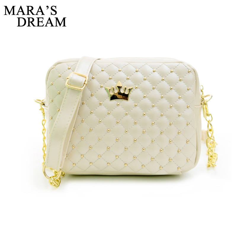 Mara sen małe torba kobieca modna torebka z korona Mini nit torba na ramię kobiety Messenger torby 2019 gorąca sprzedaż 3