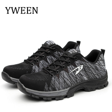 YWEEN New Arrive Safety Shoes Mens Steel Toe and Sole Puncture Breathable Casual Work Men safety Boot
