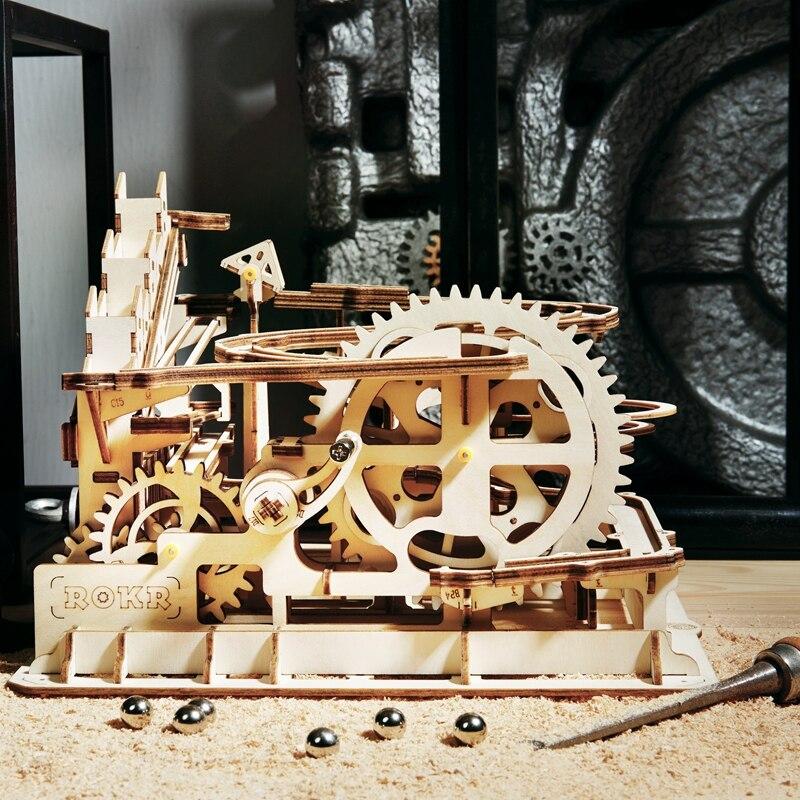Robotime 4 sortes bricolage marbre course jeu découpe Laser 3D en bois Puzzle jeu assemblage jouet cadeau pour enfants adulte LG501 - 4