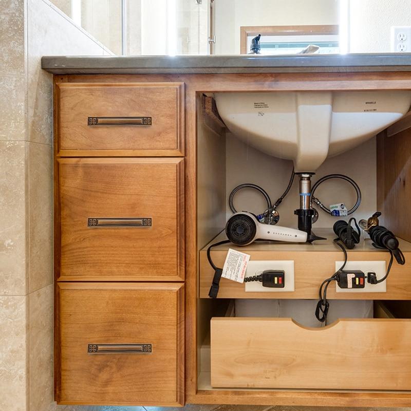 New Chinese Wardrobe Door Handle Antique Cabinet Drawer Knob Pulls European Brass Handles Hardware
