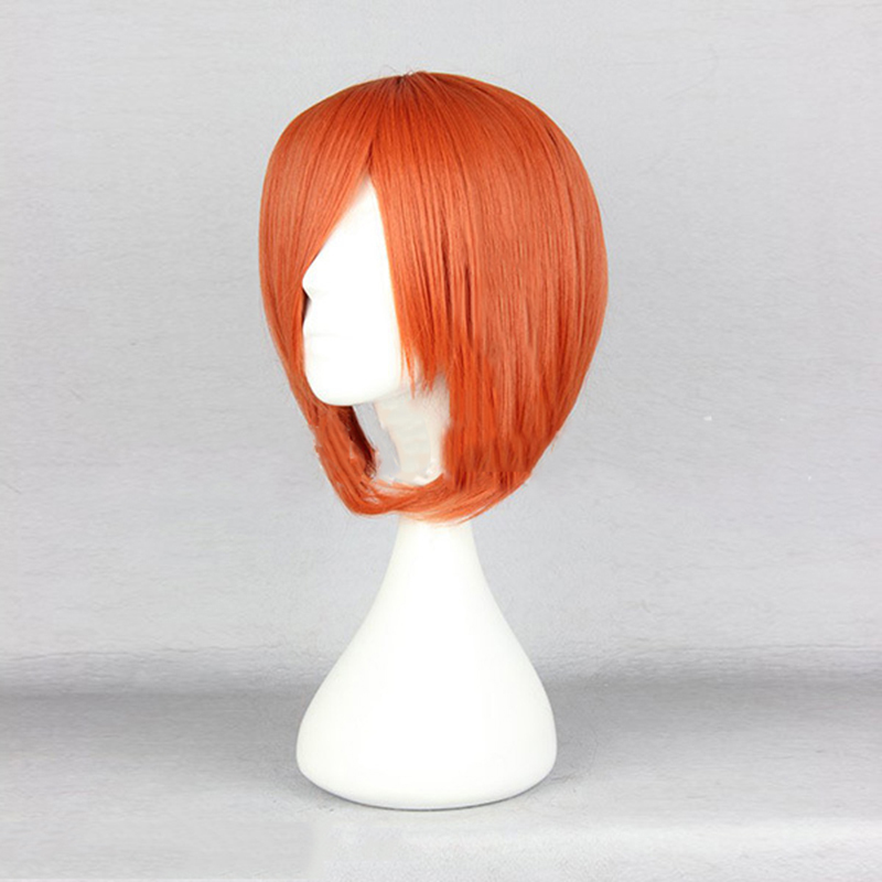HAIRJOY Cosplay Wig Short Straight Synthetic Hair  Orange Wigs 4 Colors 2