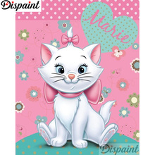 Dispaint Full Square/Round Drill 5D DIY Diamond Painting Cartoon cat scenery 3D Embroidery Cross Stitch Home Decor Gift A12482