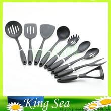 Set of 10 Kitchen Cookware Cooker Set Nylon Ladle Spoon Spatula Set Cooking Tools Set Cooking Utensils Kitchen Utensil Tools