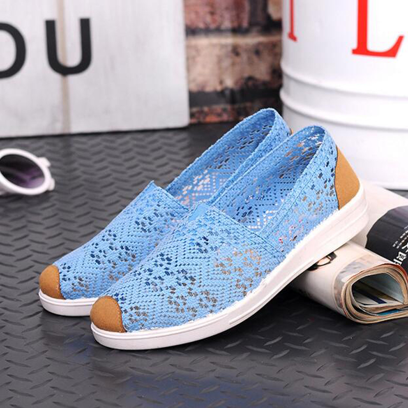 2018 Summer autumn Flat Shoes Woman Comfortable Casual Flats Women's Shoes Leisure Hollow Breathable Women Shoes Size 36-40