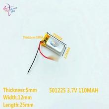 10 sztuk 3.7V 110mAh 501225 litowo-polimerowa lipo akumulator do Mp3 Mp4 PAD DVD słuchawki bluetooth