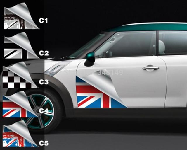 2 X Car Accessories Side Door Sticker And Decals For Mini Cooper