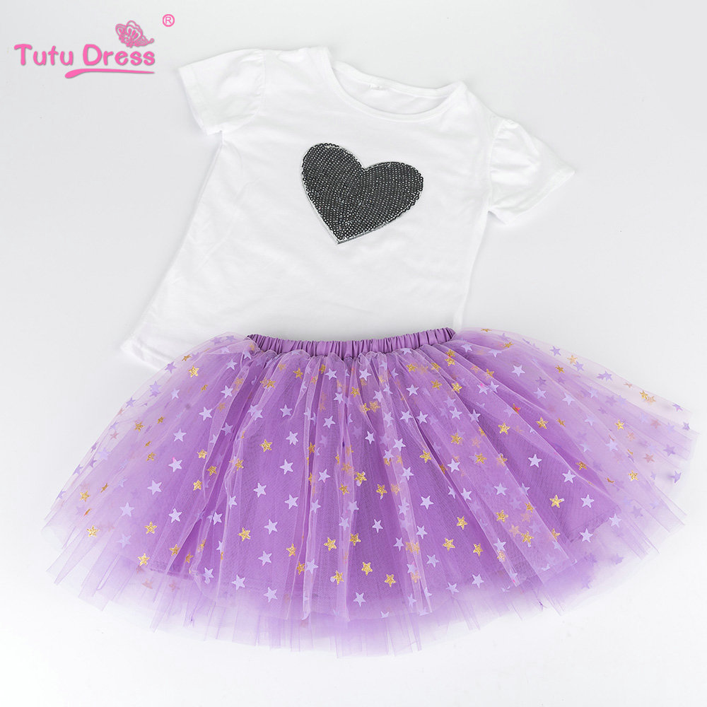 Girls Clothes 2017 Girl Clothing Sets Kids Clothes Disruptive Pattern Children Clothing Toddler Girl Tops+Skirt children kids girls clothing sets outfits black clothes t shirt tops striped enfant cotton ruffled bow shorts skirt toddler girl