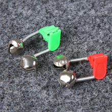 1 pieces / bag high sensitive fishing bell bite alarm fishing rod bell rod clip tip clip bell outdoor fishing accessories 2 pcs sea fishing rod bell accessories tip bite lure alarm fish double bell ring