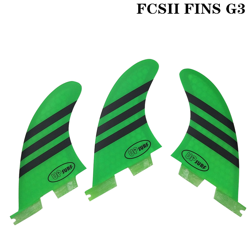 Surf Fins FCS2 G3 Red Blue White Green Surfboard Honeycomb Fins Tri fin set fcs fin Fibreglass in Surfing from Sports Entertainment