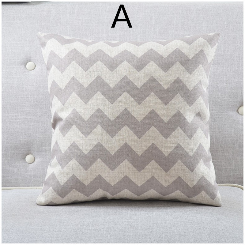Scandinavian Style Throw Pillows : Maiyubo Geometric Wave Cushion Cover Eye Relax Pattern Throw Pillow Case Scandinavian Style ...