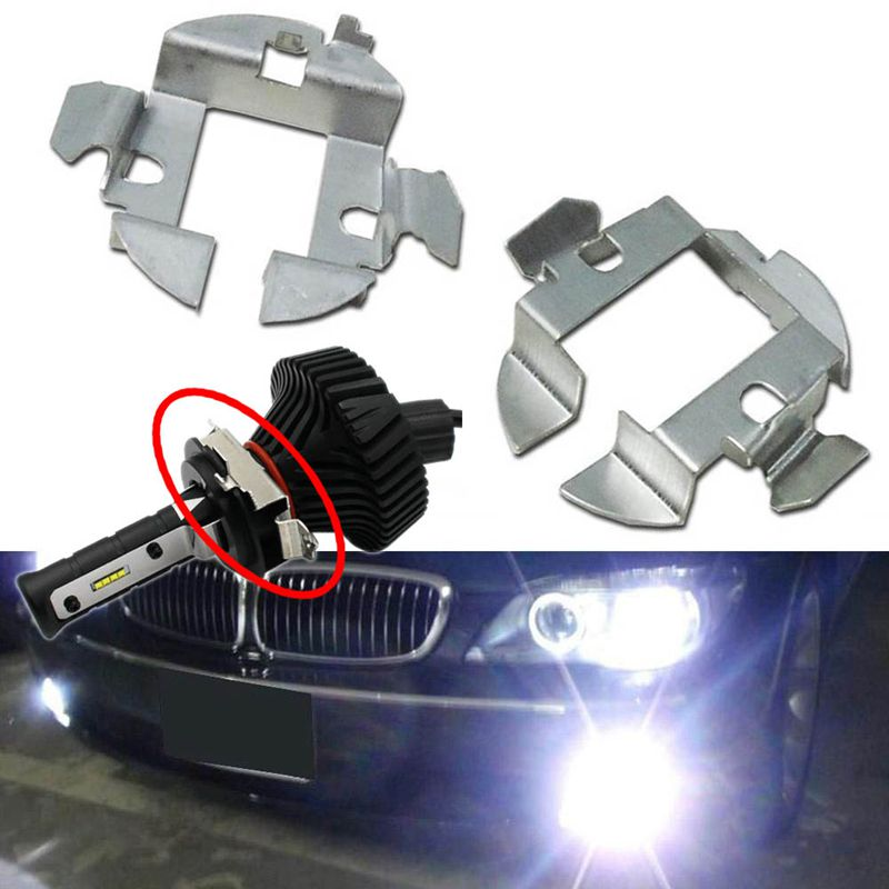 1PIC Auto Car Cover H7 HID Xenon Bulbs Base Holders Adapters Retainer Clips Kit For BMW VW Bora H7 LED Headlight Bulb Adapter