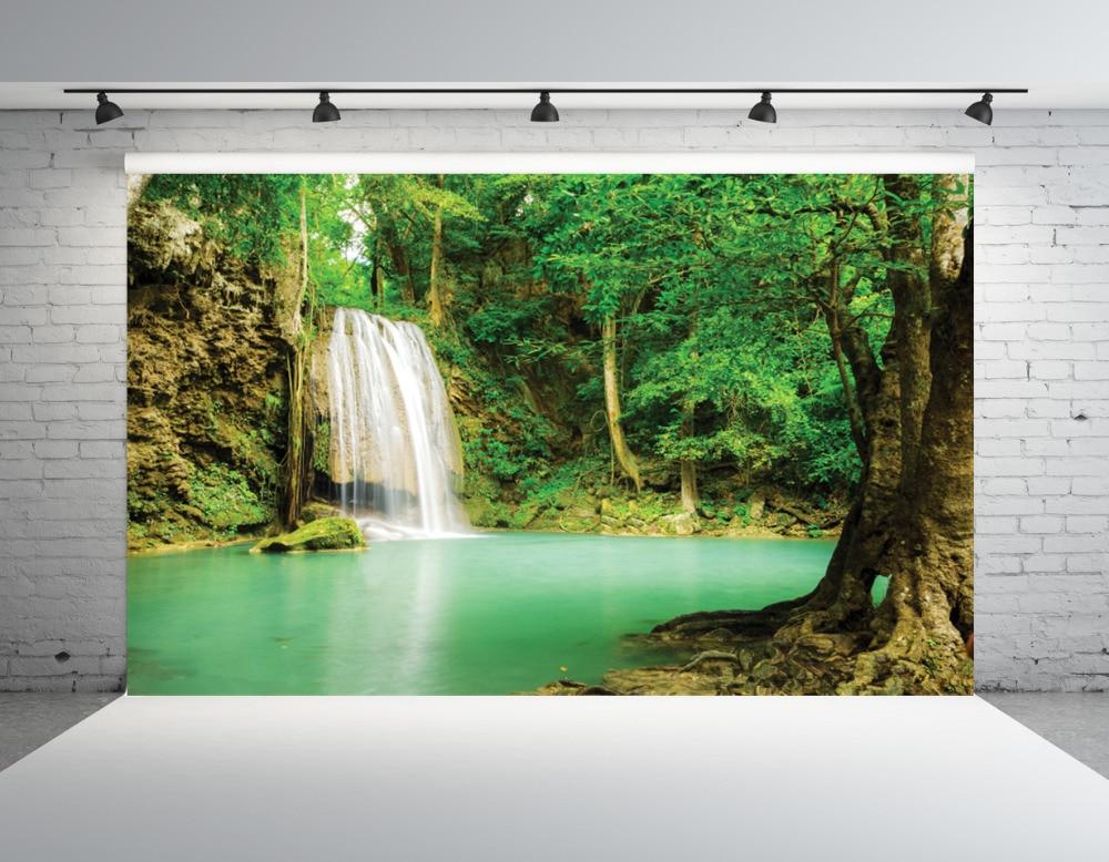 SHENGYONGBAO Art Cloth CustomPhotography Backdrops Prop Waterfall  theme  Photo Studio Background 18624-06