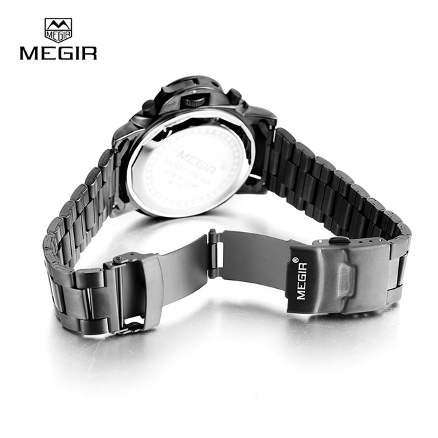 stainless steel waterproof quartz watch for men 4