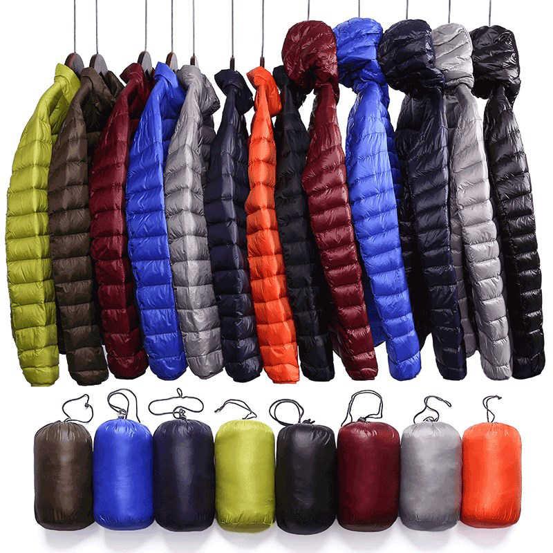 QUANBO брендовая осенне-зимняя легкая пуховая куртка мужская мода с капюшоном короткое большое ультра-тонкое легкое молодежное тонкое пальто 5XL
