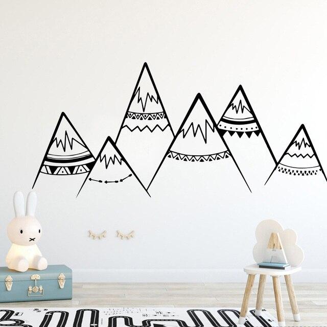 Настенные наклейки в скандинавском стиле, съемные настенные Декорации для мальчиков, для детей, для малышей, для помещений, декоративные наклейки на стены, Sricker, фрески