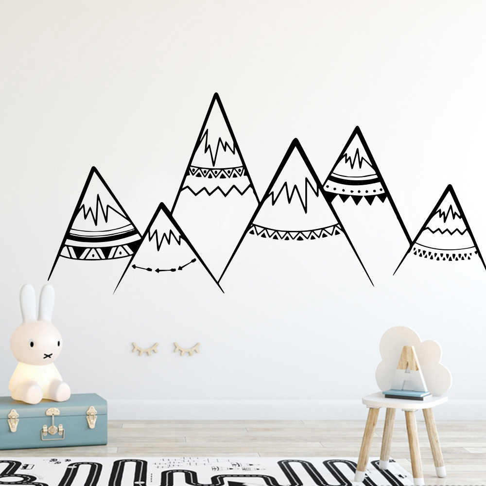 Nordic style Mountain wallstickers Removable Wall Decor For boys Kids babys Rooms Decoration Wall Decals Sricker Murals
