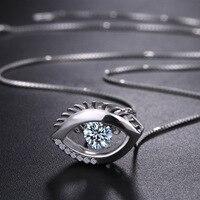 LOZRUNVE Das auge der Europäischen und Amerikanischen kristall dämonen S925 reinem silber auge und Zirkon Anhänger schlüsselbein Halskette