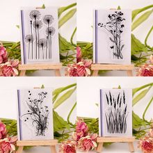 New Fashion Silicone Variou Flower&Grass Transparent Clear Rubber Stamp Sheet Cling Scrapbooking Photo Album PaperCard DIY Craft(China)