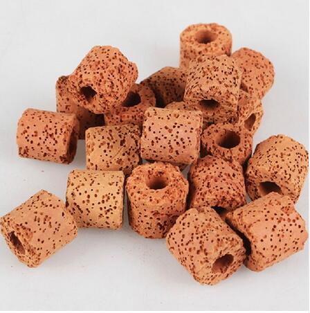 100g 300g 500g czerwony pierścienie ceramiczne Bio porowaty filtr mediów akwarium staw/oczko wodne filtr do akwarium bakterie nitryfikacyjne Biocycle