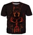 2015 nova verão mulheres homens Naruto ANIME t-shirt de hip-hop 3d t-shirt camiseta camiseta tops