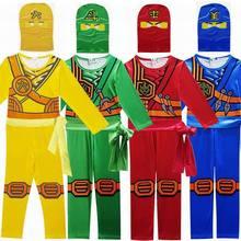 Ninjago Cosplay Costumes Boys Jumpsuits Sets 3PCS/SET Halloween Christmas Party Clothes Ninja Superhero Streetwear Suits 3-10Y