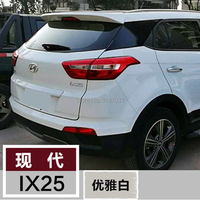 For Hyundai IX25 Spoiler 2014 2015 ABS Plastic Unpainted Color Rear Roof Spoiler Wing Trunk Lip Boot Cover Car Styling