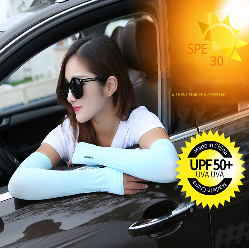 1 Pair Men Women Arm Sleeves Summer Sun UV Protection Cycling Running Fishing Clambing Driving Arm Cover Hot Sale Dropshipping in Men 39 s Arm Warmers from Apparel Accessories