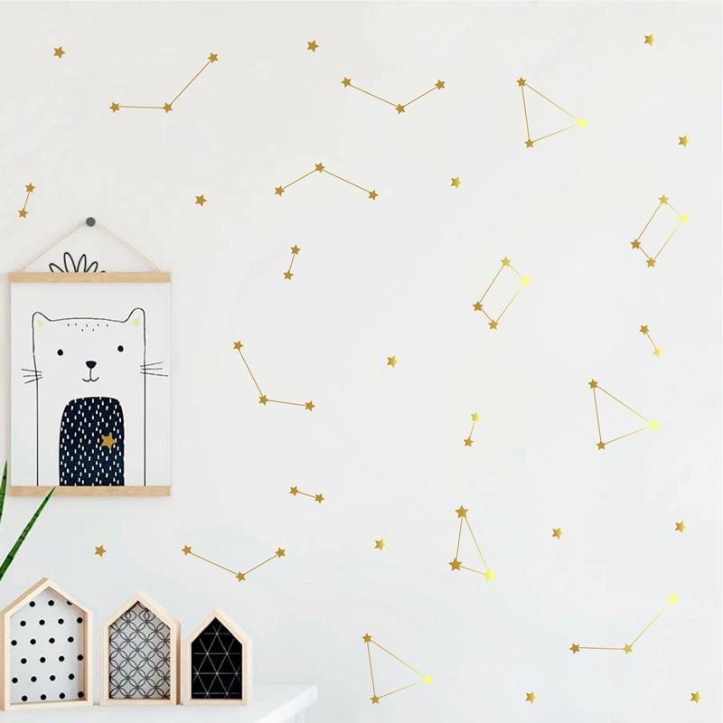 Constellation Vinly Stickers Kids Bedroom