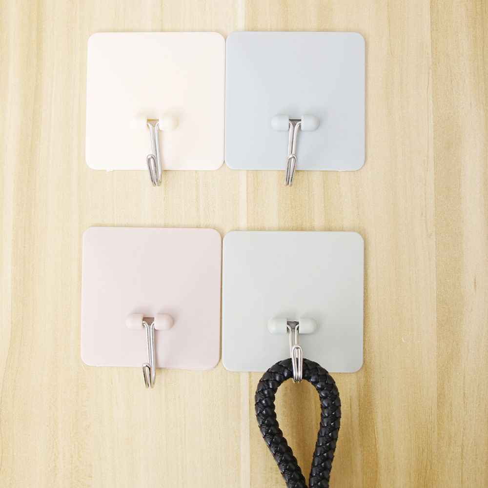 KECTTIO z tworzywa sztucznego kuchnia samoprzylepne haczyki półka wieszak organizator stojaki ścienne wiszące drzwi łazienka ubrania wieszak na ręczniki uchwyt na