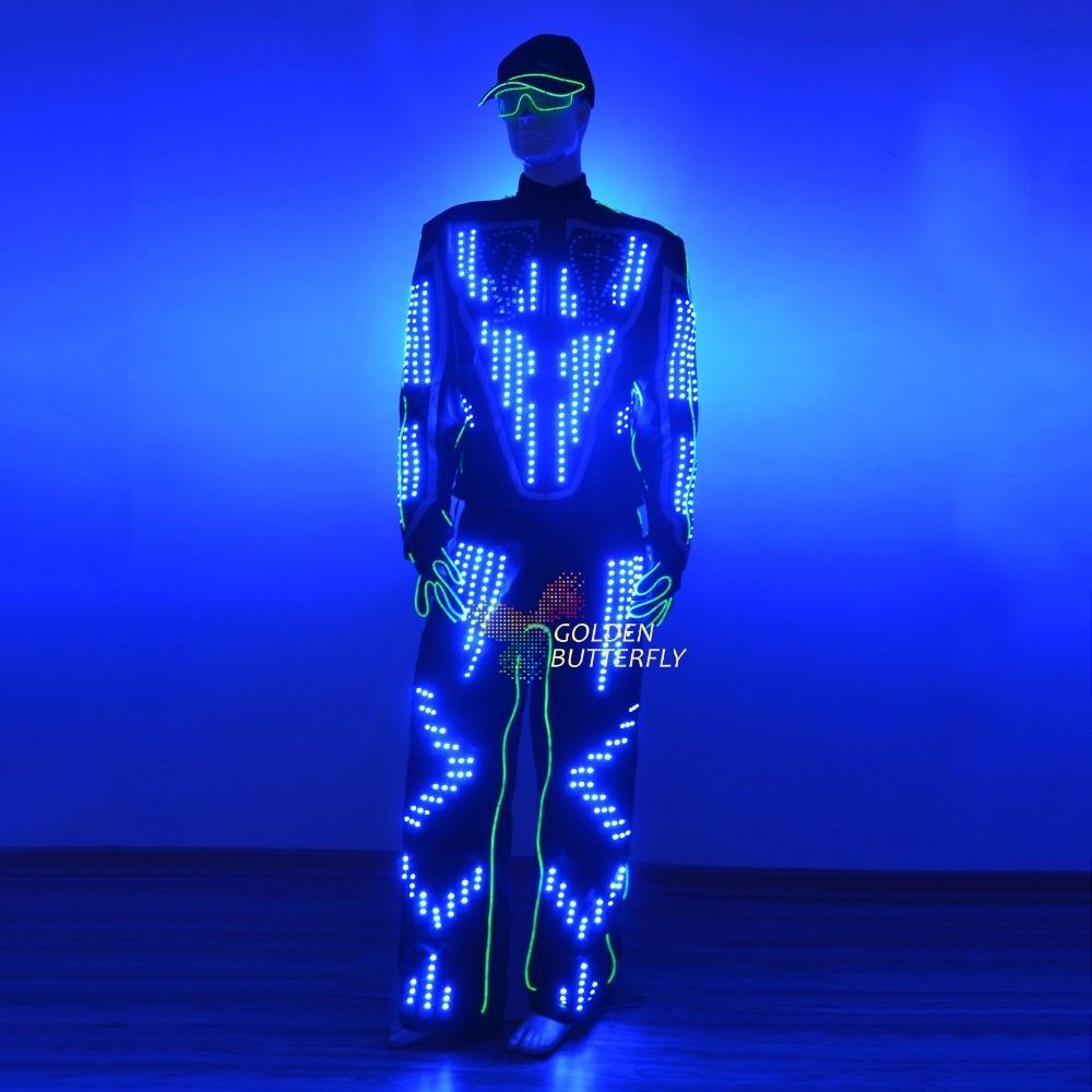 LED Kostuum Licht Kleren Gloeiende LED Kleding Mode