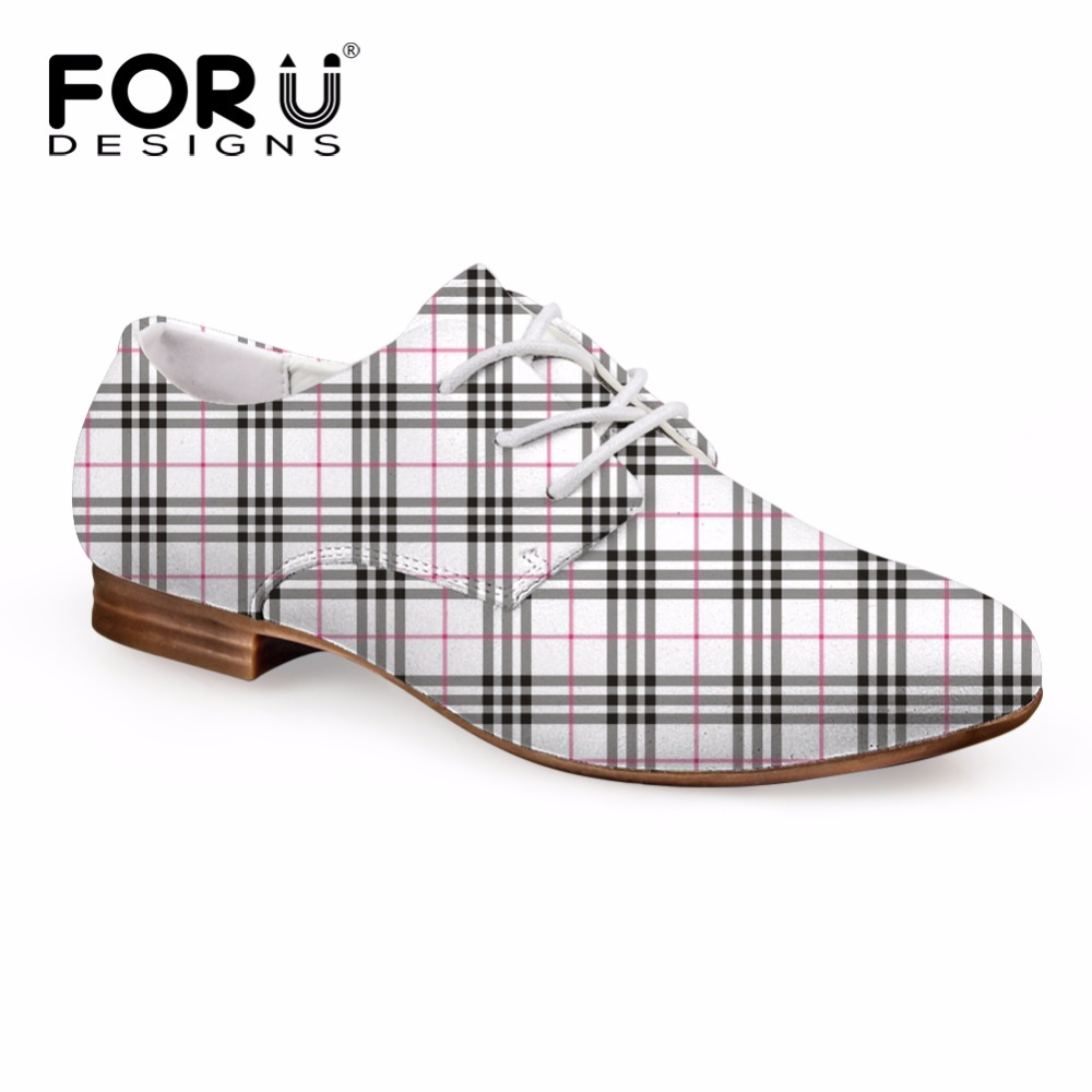 FORUDESIGNS Autumn Solid Women's Oxfords Shoes 3D Lattice Lace-up Oxford Shoe for Women Casual Teenage Girls Leather Shoes Woman forudesigns casual women flats shoes woman fashion graffiti design autumn lace up flat shoe for teenage girls zapatos mujer 2017