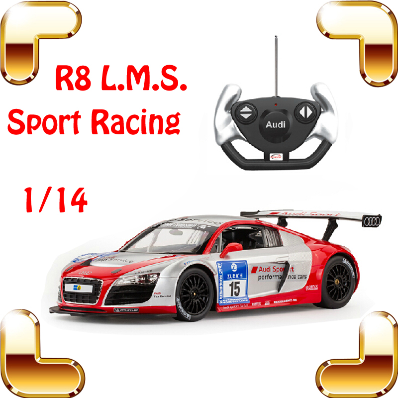 цена на New Year Gift 1/14 R8 LMS RC Sport Racing Car Drift Toy Electric Remote Control Vehicle Outside Drive Fun For Boys Present