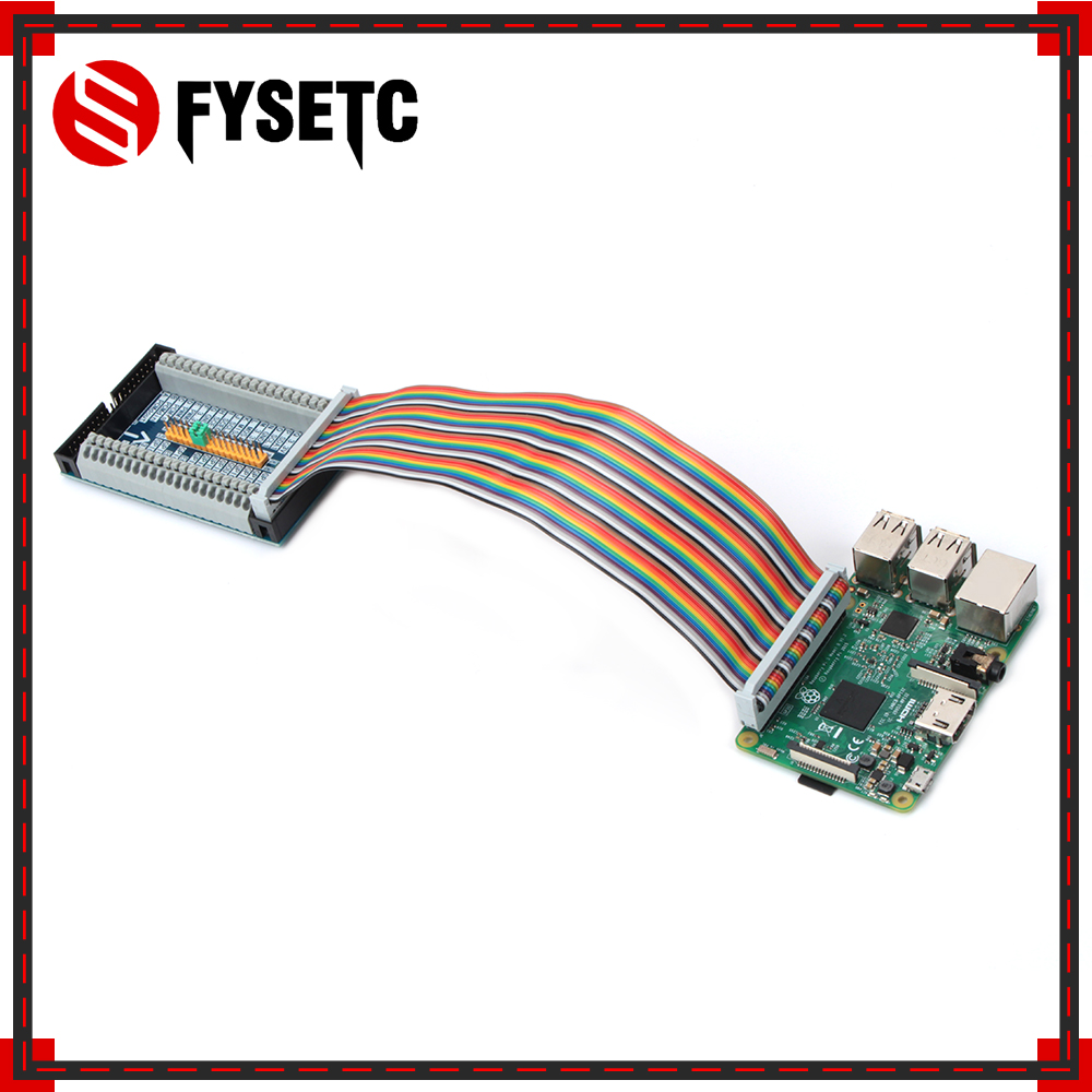 купить 40Pin GPIO Cable Adapter+Raspberry Pi 2/3 Model B Multifunctional Cascade Expansion Extension GPIO Board Module For Orange Pi PC по цене 624.9 рублей