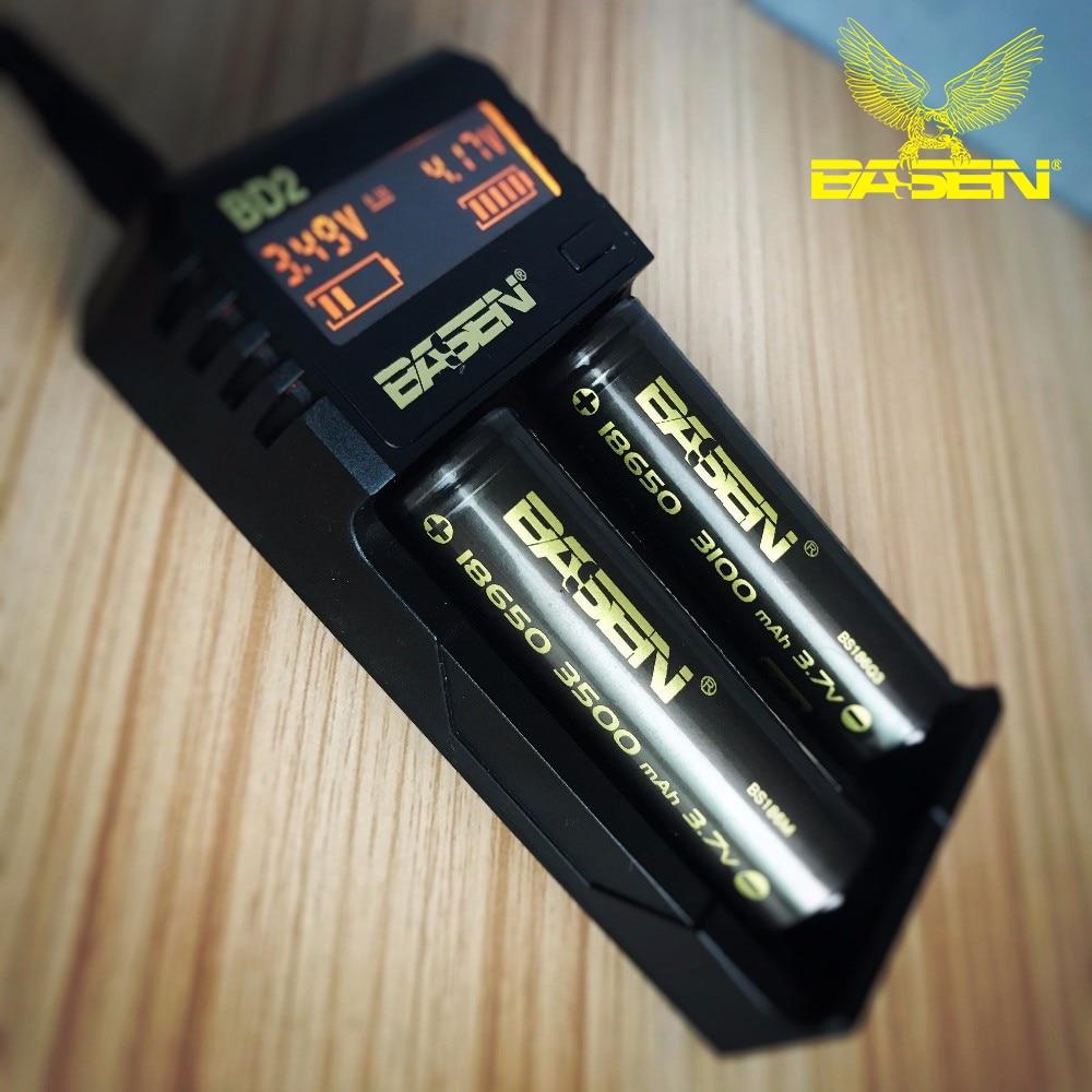 BD2 LED Intelligent Lithium Battery USB charger Basencharger Li-ion 18650 14500 16340 26650 EU US UK standard smart charger