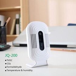JQ-200 Wifi analizadores de Gas formaldehído Digital HCHO & TVOC y CO2 Detector medidor probador Sensor calidad del aire dispositivo de detección
