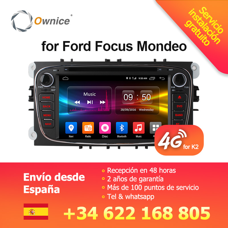 Ownice C500 G10 Android 6,0 Octa 8 ядра dvd-плеер автомобиля для FORD Mondeo S-MAX Connect FOCUS 2 2008-2011 с радио gps 4G LTE