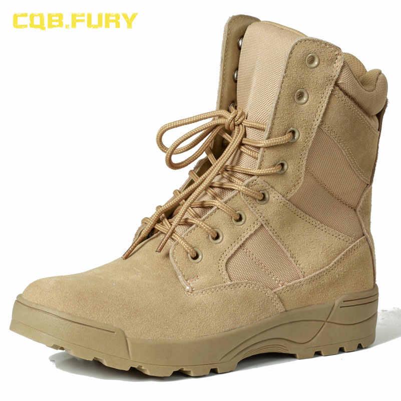 CQB.FURY leather mens military desert