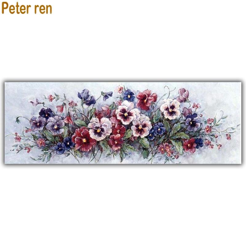 Peter ren Diy Diamond painting cross stitch flower Round Square mosaic Picture of rhinestone Full Embroidery Flower phalaenopsi in Diamond Painting Cross Stitch from Home Garden